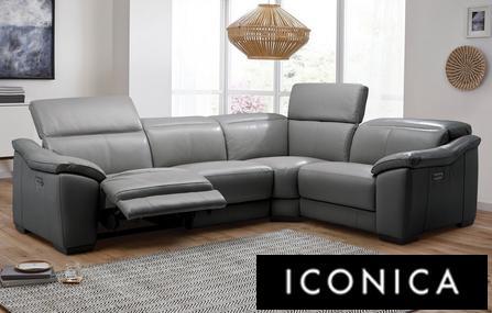 Super Grey Fabric Corner Recliner Sofa Baci Living Room Creativecarmelina Interior Chair Design Creativecarmelinacom